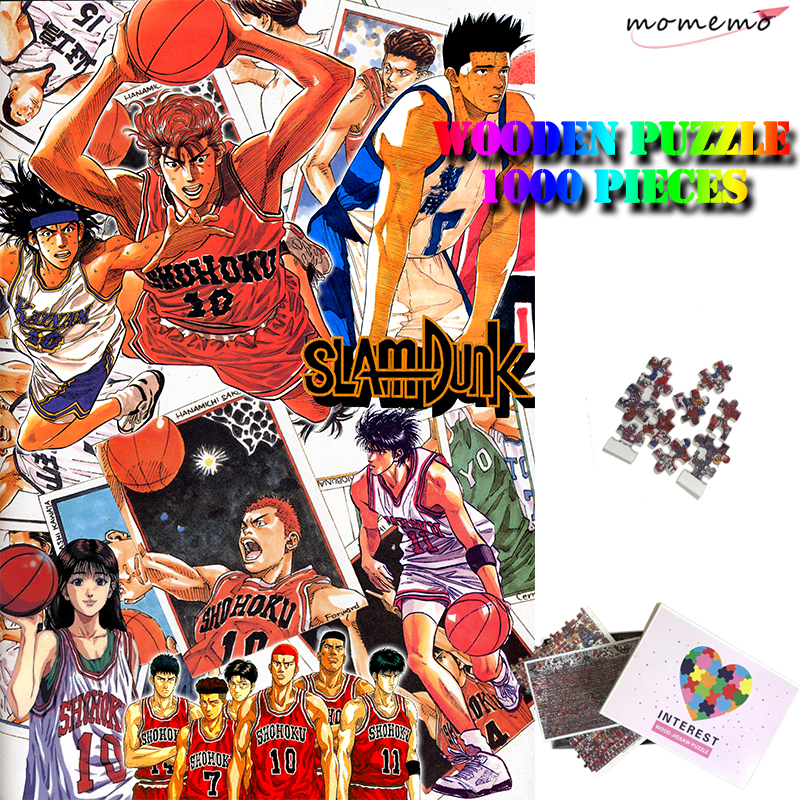 MOMEMO Slamdunk Puzzle 1000 Pieces Wooden Adults Puzzle Toys Anime Customized 1000 Piece Puzzles Interest Children Teens Puzzle