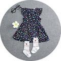 Vestido novo 2016 garota Verão teste padrão do Diamante do bebê meninas vestido tutu vestido de Princesa Crianças roupas vestido da menina roupa do bebê recém-nascido