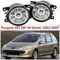 Para PEUGEOT 307 SW (3 H) 2002-2015 amortecedor dianteiro alto brilho LED luzes de Nevoeiro luzes de NEVOEIRO DRL Car styling branco 1 conjunto OE 620639