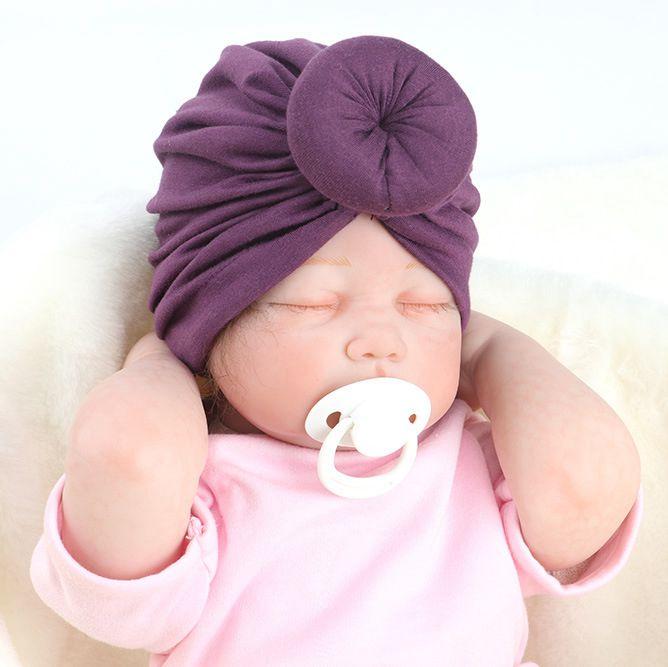 New Newborn Rose Knot Caps Soft Cotton Blend Hat Clothes Accessories Baby Shower Turban   Headwear   Birthday Gift