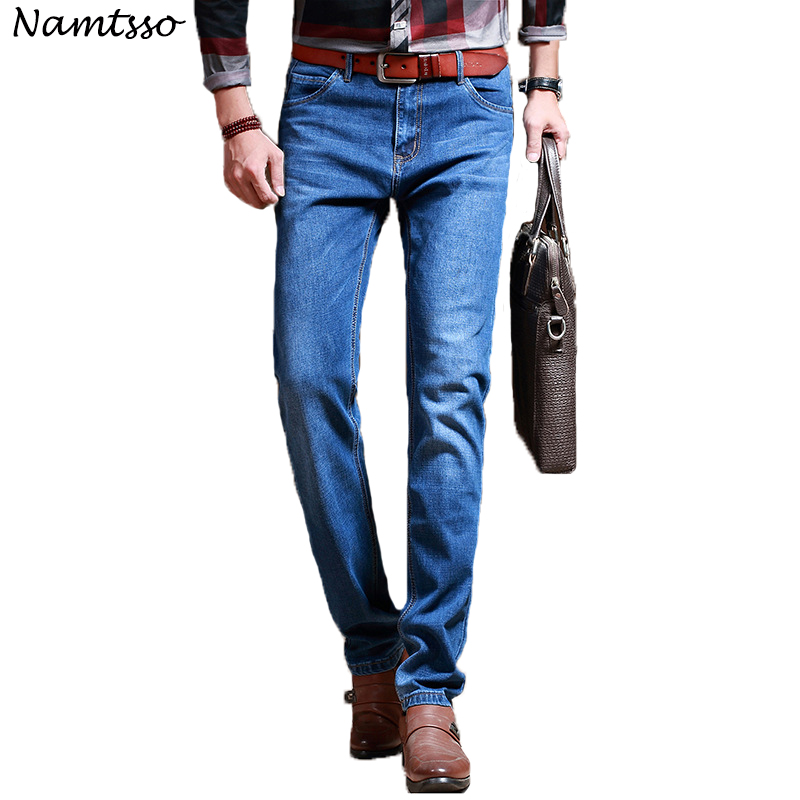 2018 New Mens brand jeans Fashion Men Casual Slim fit Straight Stretch jeans men Business hot sell male trousers Big size 1001
