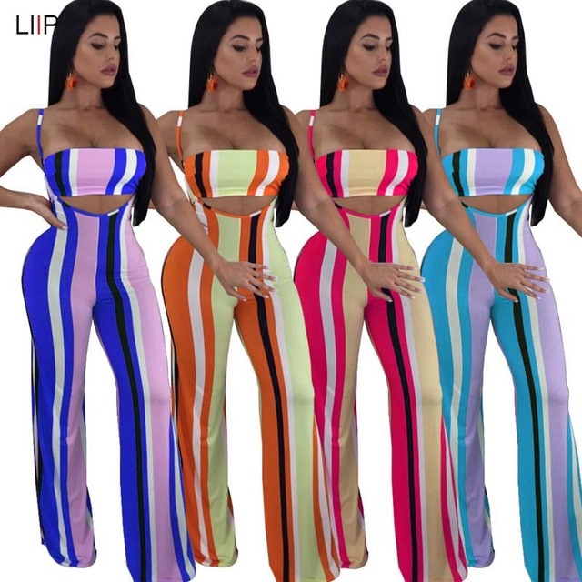 056b25d53d8e summer 2018 sexy crop top and pants two piece set tracksuit women matching  sets LIIP 2