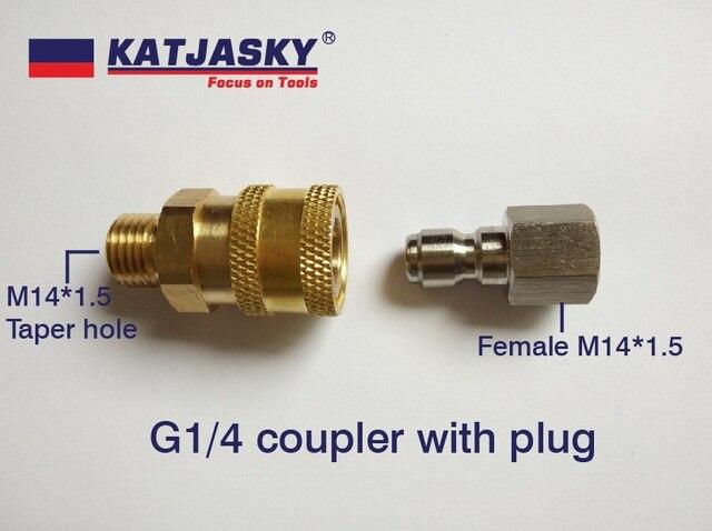 Coupleur à dégagement rapide G1/4 avec bouchon pour pistolet à haute pression et tuyau, haute qualité