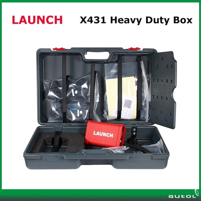 LAUNCH X431 Heavy Duty Truck Scanner Can Do 12V/24V Diesel Cars Work with X431 Pro3/X431 V+/X431 PAD II  прямой разводной ключ 24 3 rothenberger heavy duty 70155