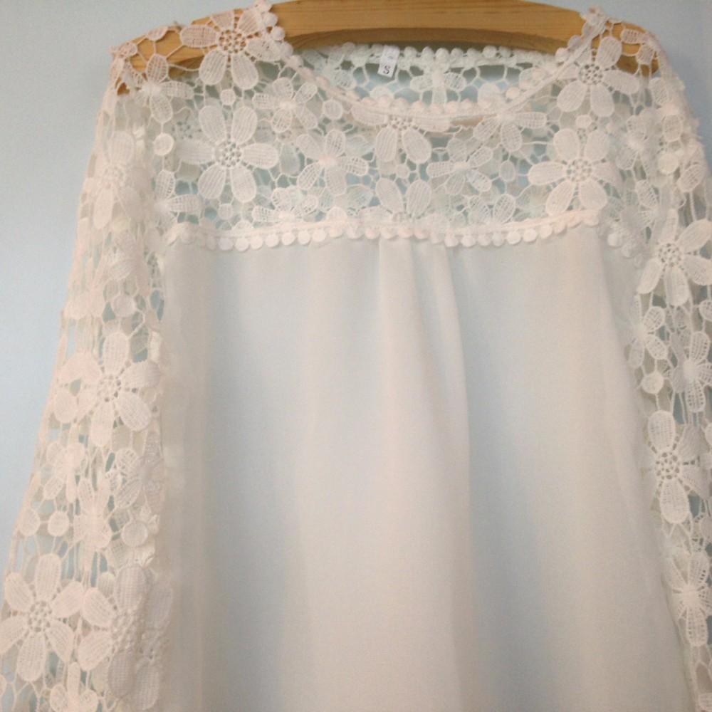 HTB1 GwyLVXXXXboaXXXq6xXFXXXW - Autumn Elegant Women White Lace Blouses Floral
