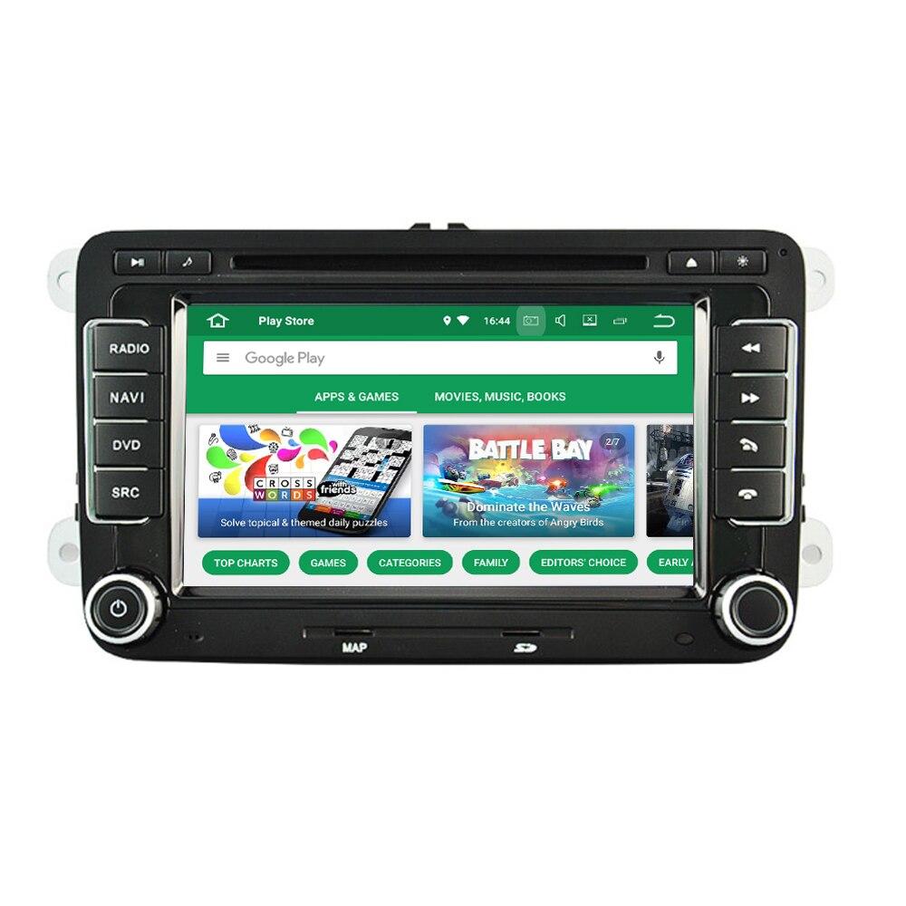 Android 8.0 pour VW pour Volkswagen pour Skoda Roomster Praktick Limousine Combi lapin autoradio DVD GPS Navigation multimédia