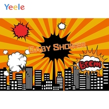 Yeele City Building Baby Shower Birthday Newborn Photography Cartoon Background Photographic Party Backdrop Photo Studio