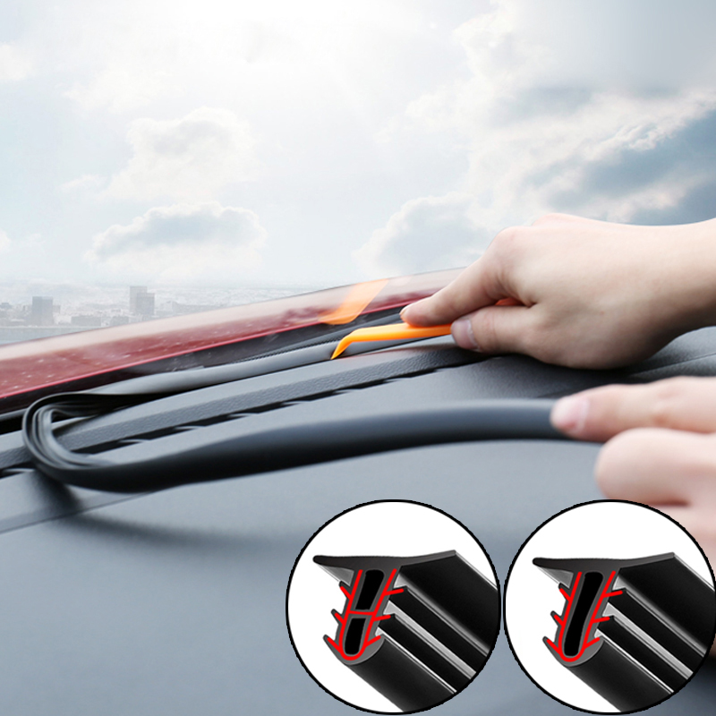 Car Dashboard Sealing Strips Styling Stickers For Ford Focus 2 3 Fiesta Mondeo Kuga Citroen C4 C5 C3 <font><b>Skoda</b></font> Octavia Rapid <font><b>Fabia</b></font> image