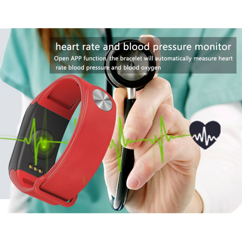 New 2017 Fitness Tracker Fashion Wristband Heart Rate Monitor Smart Band F1 Smartband Blood Pressure With