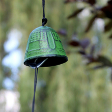 Japanese Nambu Cast Iron Outdoor Wind Chime Furin Cloche a Vent Metal Temple Praying Good Luck