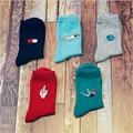 Nueva Moda Corea Mujeres Niñas Calcetines De Algodón Lindo Píldora Kawaii Patrón de Estrella Harajuku Divertido Barato ocasional Novedad Arte Sox marca