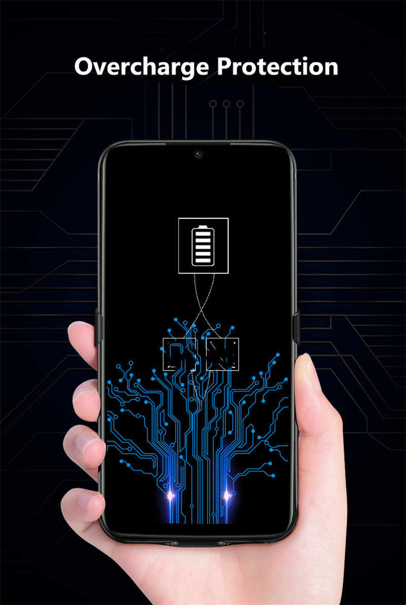 Extpower 6800 MAh Battery Charger Case untuk Xiaomi Redmi Note7 Pro Note7 Backup Slim Silikon Tahan Guncangan Power Bank Pengisian Cover