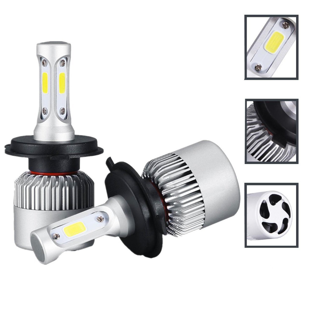 H4 Hi-Lo Beam Car Led Headlight Bulb COB 72W 8000LM 9003 HB2 LED Car Headlighs Fog Running Light Auto LED Headlamp Bulbs 12v 24v h4 led motorcycle headlight headlamp bulb cob h4 led hi lo beam scooter moto light replace for halogen 6 36v pure white 6000k