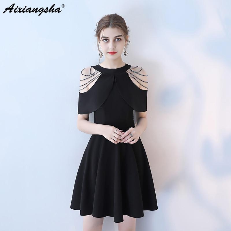 2018 Fashion Black Celebrity Dresses Cheap Lace Scoop Mini Dress