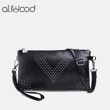 2018 женские сумки с заклепками женская кожаная сумка через плечо женские клатчи сумки через плечо для женщин Sac Bolsa Feminina