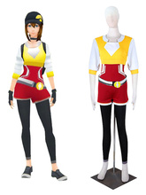 Entrenador Pokémon Pocket Monster GO Equipo Amarillo Femenino Uniforme de Cosplay del Anime