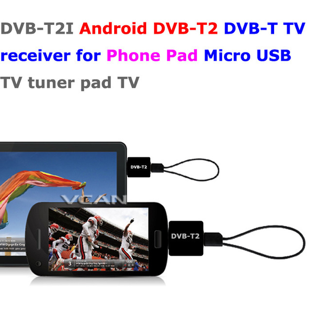 DVB-T2I Android DVB-T2 DVB-T TV receiver for Phone Pad Micro USB TV tuner