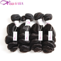 Miss Cara Loose Wave Hair Brazilian Hair Weave Bundles Remy Human Hair Natural Black 8 28