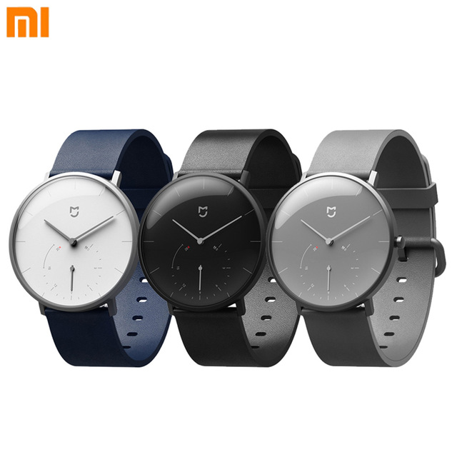 Original for Xiaomi Mijia Smart Watch 3ATM Quartz Wristwatches Stainless steel case With Pedometer Clock Call Reminder Features