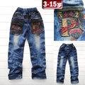 Pantalones vaqueros de los niños, pantalones de los niños, ropa de los niños, otoño de los niños, 2014 nuevos pantalones de otoño, pantalones