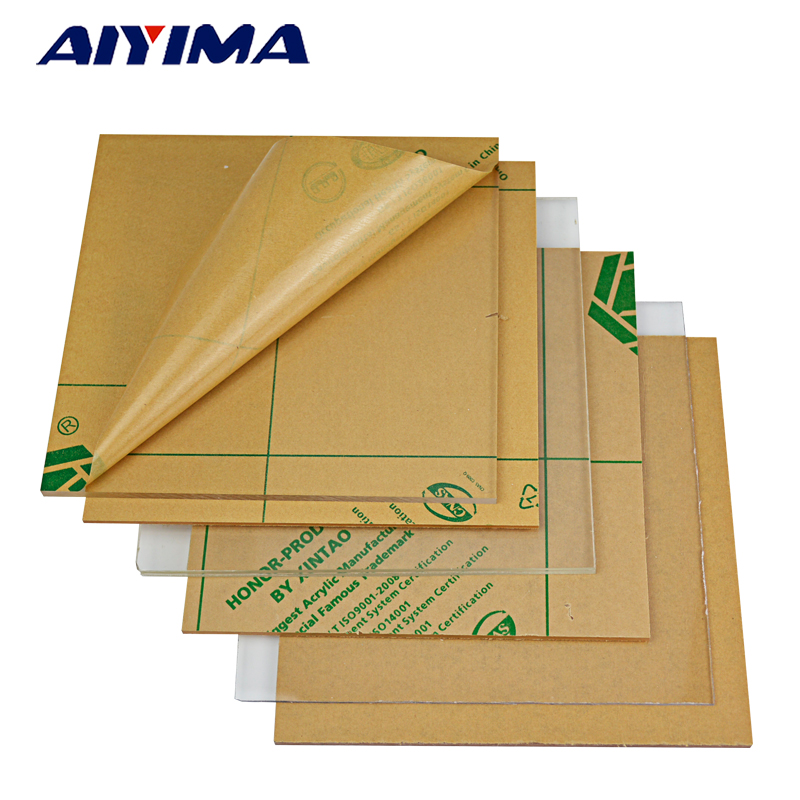 1Pc 200mm*200mm Transparent Plastic Acrylic Board Organic Glass Polymethyl Methacrylate 2mm 4mm 6mm 8mm Thickness 1pcs yt772 acrylic board transparent organic glass diy plastic building model material thickness 1 2 3 5 mm area 10 20cm