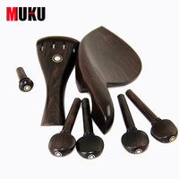 New 4 4 Violin Parts Fiddle Polished Ebony Pegs End Pin Vintage Design Polished Ebony TP
