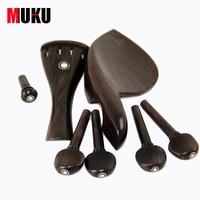 New 4 4 Violin Parts Fiddle Polished Ebony Pegs End Pin Vintage Design Polished Ebony TP
