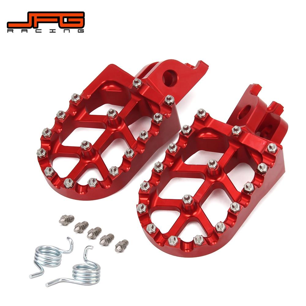 Motorcycle CNC FootRest Footpegs Foot Pegs Pedals For HONDA CR125 CR250 CRF150R CRF250R CRF250X CRF450R CRF450X CRF250L CRF250M