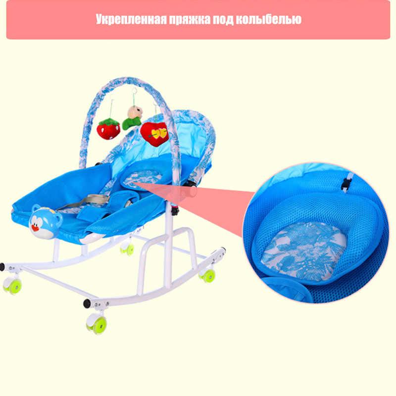 Cuna de Metal para bebés con reproductor de música ligero, cuna columpio para bebés y niños, mecedora para recién nacidos