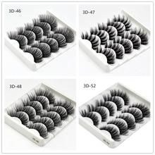 5 Pairs 3D Mink Hair False Eyelashes Fashion Natural Thick Long Eye Lashes Professional False Eyelash Extension Tools