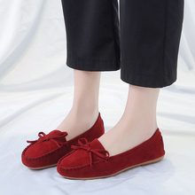 Women Ballet Shoes Flats Cut Out Leather Breathable Women Boat Shoes Ballerina Ladies Shoes Slip on Shoes Woman Shallow Flats