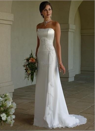 Aliexpress.com : Buy Simple White Chiffon Wedding Dresses ...
