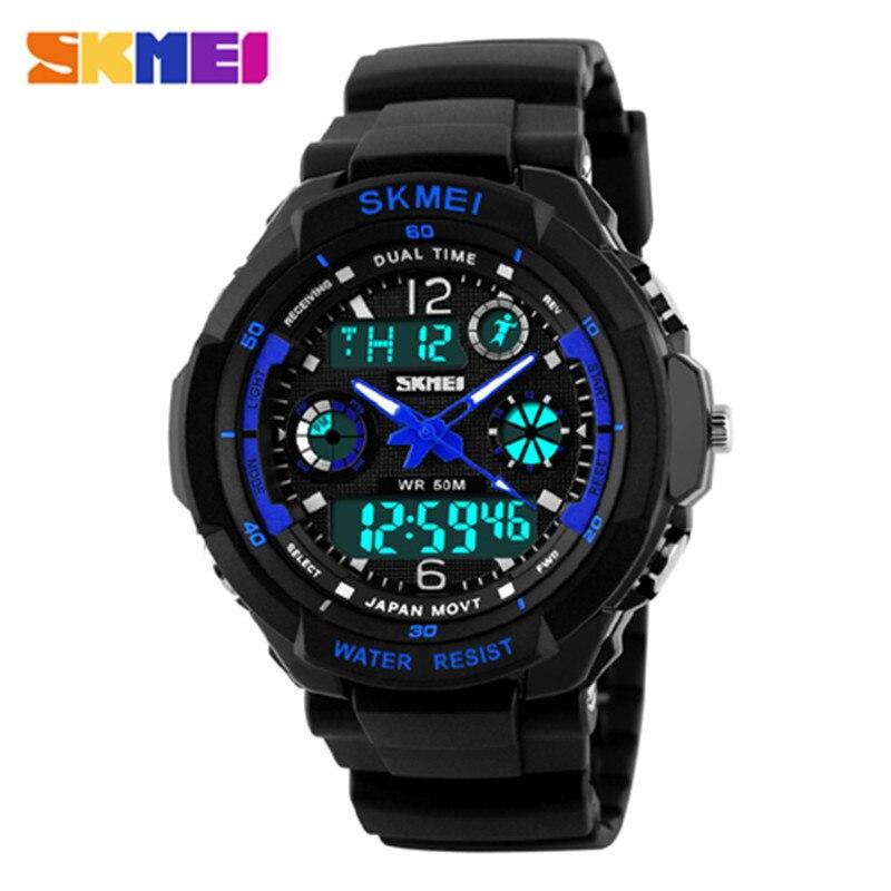 Nieuwe S-Shock Merk mannen Sport Horloges Mode Toevallige Horloge Quartz Horloge Analoog Militaire LED Digit Horloge Montre homme Skmei