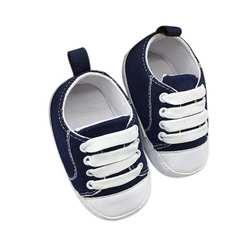 Детская обувь 2017 г. обувь для малышей Нескользящие мягкие однотонные Парусиновые мокасины bebek ayakkabi l10192