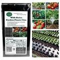 10 м * 95 см 5 отверстий домашний сад пленка сельскохозяйственные овощи черная пленка растения пластиковая перфорированная мульчирующая плен...