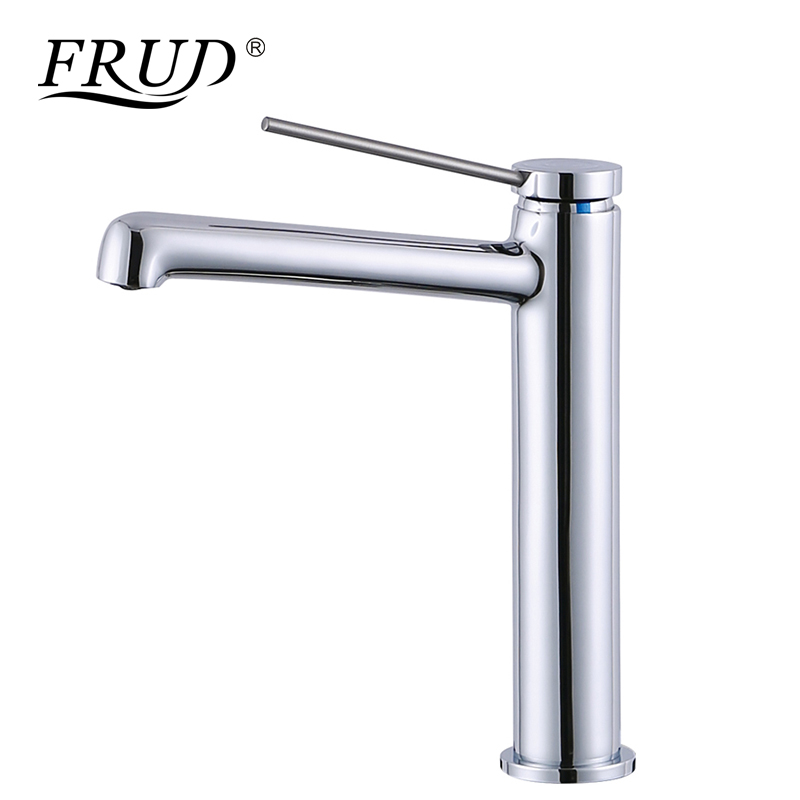 цена FRUD High Quality Waterfall Faucet Basin Tap Single Handle Water Tap Bathroom Hot and Cold Water Sink Faucet Tap torneira Y10059