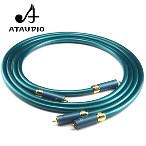 Image 2 - Аудиокабель ATAUDIO, Hi Fi, RCA, Hi Fi, усилитель, CD, разъем 2RCA на 2RCA, 1 м, 2 м