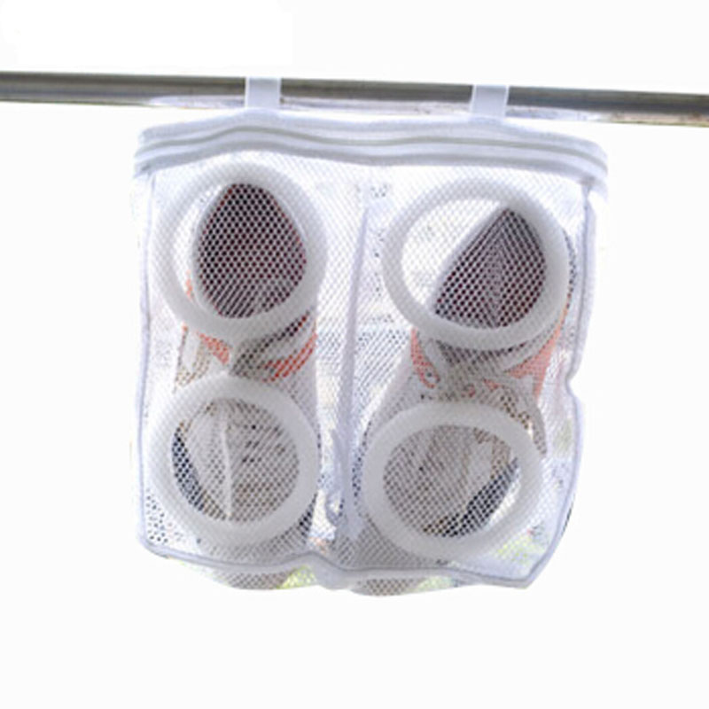 Polyester Shoe Storage Organizer Laundry Bags Shoes Washing Bag Hanging Dry Sneaker Mesh Laundry Bags