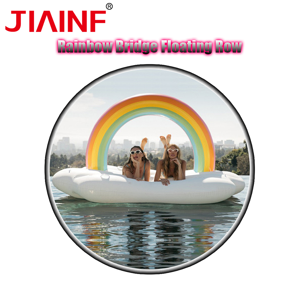 JIAINF 2018 Latest Beach Inflatable Party Type Rainbow Bridge Pool Float For Adult/Women/Kids Cloud Shape Inflatable Row micro usb для магнитный магнит зарядное устройство адаптер для sony xperia z1 ультра xl39h