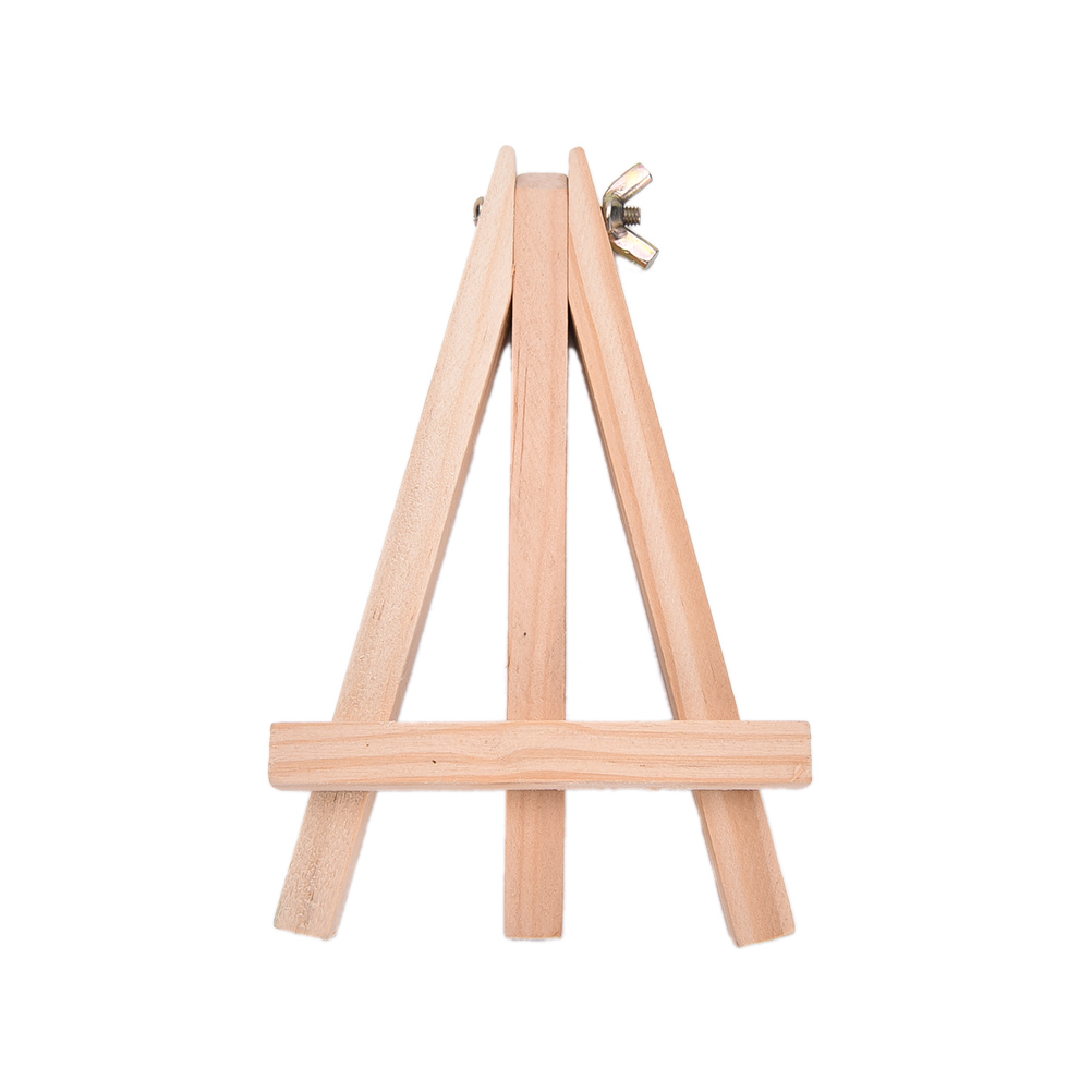 1 PCS 9X15cm Mini Artist Wooden Easel Wood Wedding Table Card Stand Display Holder For Party Decoration  Triange Easel