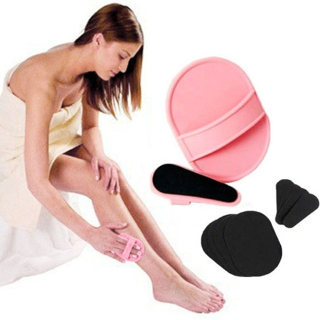 Shaving Brush Facial Hair Removal Face Depilation Smooth Legs Upper Lip Arm Exfoliator Pads Remover Sanding Device