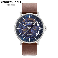 Kenneth Cole Original Mens Watches Brown Automatic Mechanical Leather Buckle Waterproof Luxury Brand Watches KC15104003 цена