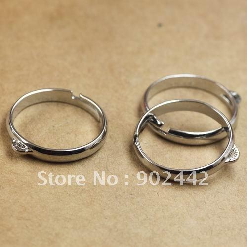 200 шт., посеребренный металл, кольцо, пустая с одним отверстием, можно завязывать шармами или бусинами