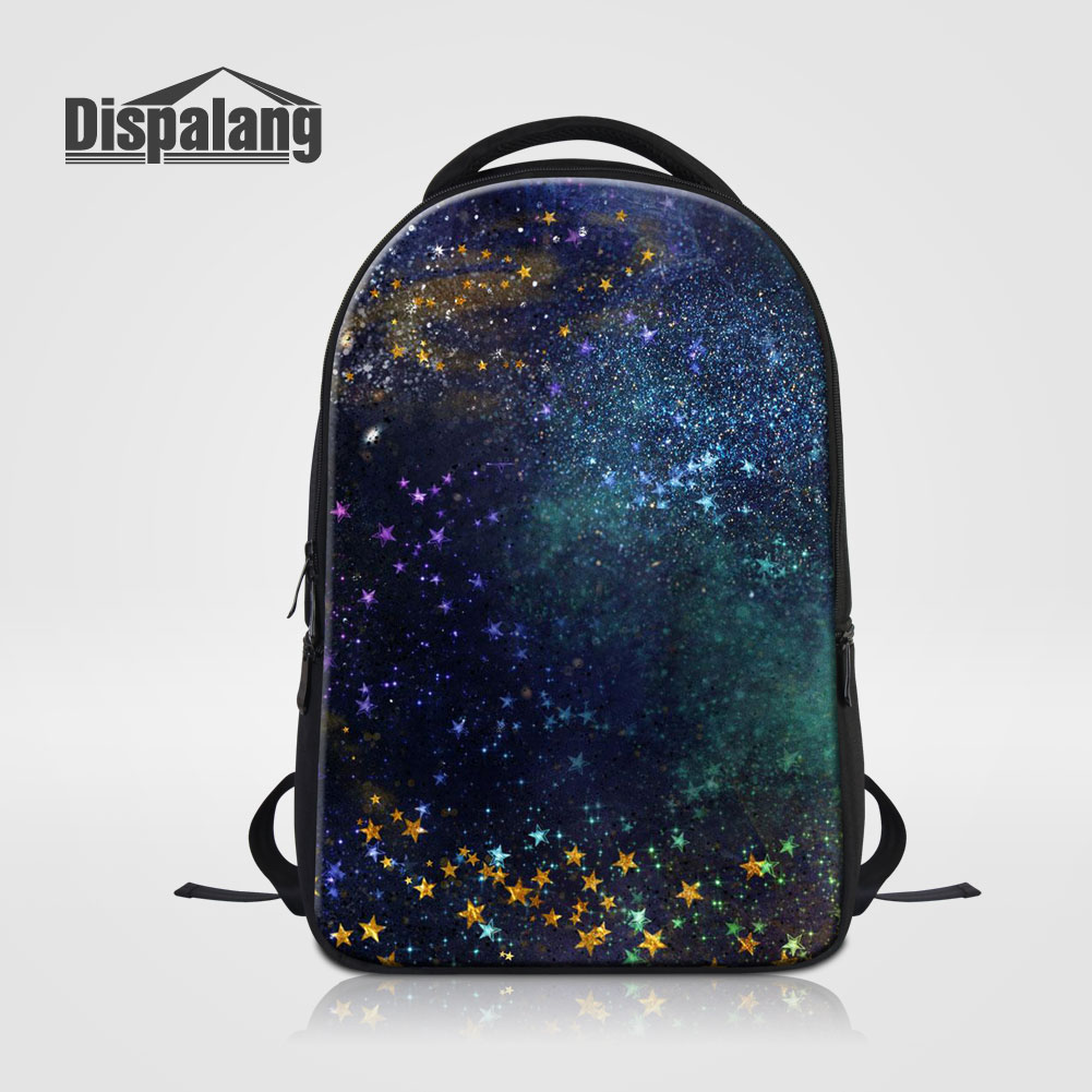 Dispalang Large Capacity Laptop Backpack For Computer Nootbook Galaxy Stars Printing Women Travel Bags School Bookbag Men's Pack dispalang soccerly school backpack for teenager boys basketbally bookbag for primary student lightweight back pack pencil bags