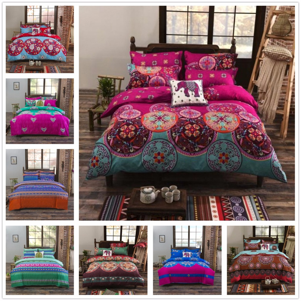 Tropical Bohemian Bed Cover Set Comforter Quilt Cover Bedclothes Bed Sheet Set Bed and Bedding Bed Linens Sets for Wedding GiftTropical Bohemian Bed Cover Set Comforter Quilt Cover Bedclothes Bed Sheet Set Bed and Bedding Bed Linens Sets for Wedding Gift