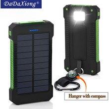 Лидер продаж, топ, солнечное зарядное устройство 18650 мАч, водонепроницаемое солнечное зарядное устройство, 2 usb порта, Внешнее зарядное устройство, зарядное устройство для Xiaomi note8, для i7