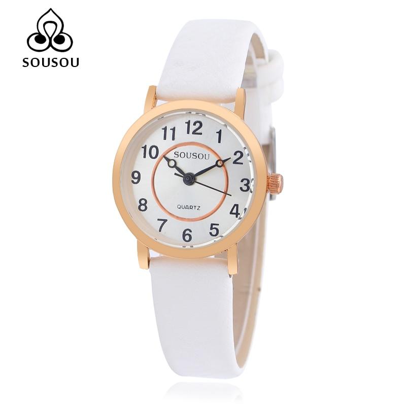 SOUSOU Quartz Wrist Watch Women Watches Famous Brand Luxury Ladies Dress Watches Lady Clock Quartz Watch montre femme
