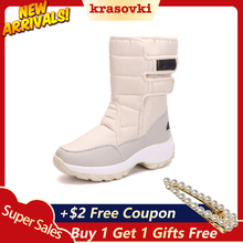 Krasovki Winter New High Top Cotton Boots Women Plus Velvet Warm Thick Platform Outdoor Snow Ankle Fashion Booties