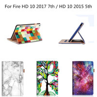 Folio Case Premium Pu Leather Stand Cover With Auto Wake Sleep For Amazon Fire HD 10