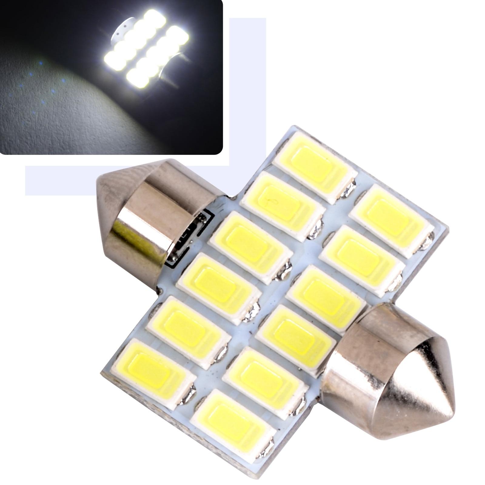 1x 12V 31mm 5630 12 SMD Car Festoon Lamp Warm White Light Dome Interior Reading LED Bulb DC 12V Car Styling jrled g4 3w 300lm 9 x smd 5630 led white light car reading lamp ac dc 12v